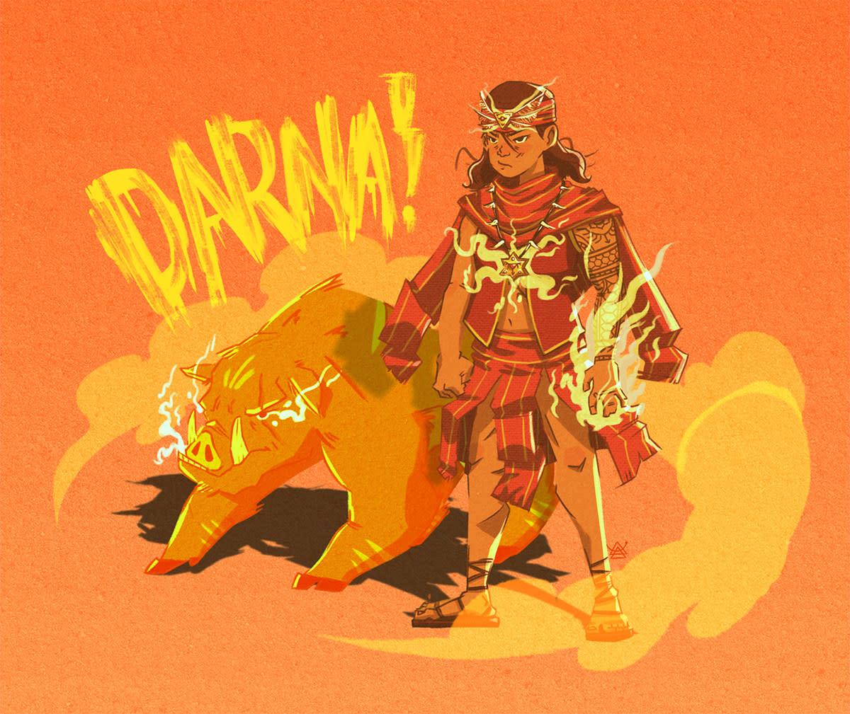 Filipino comics superheroine Darna, reimagined as a babaylan by Marx Reinhart Fidel