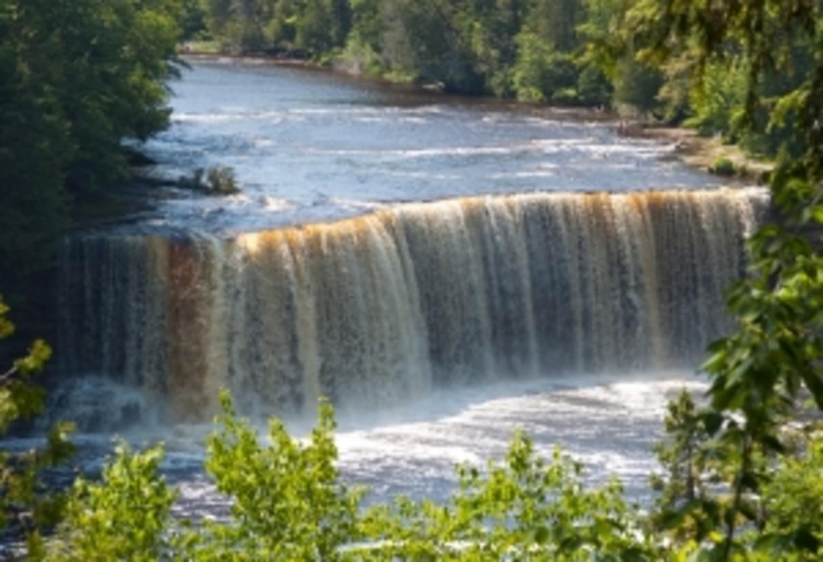 Orange Waterfall