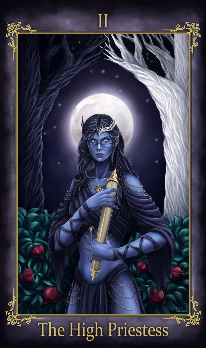 Upright or reversed, the High Priestess card in Tarot encourages the querent to study their mind more. When reversed, this card is urgently trying to get you to reflect.