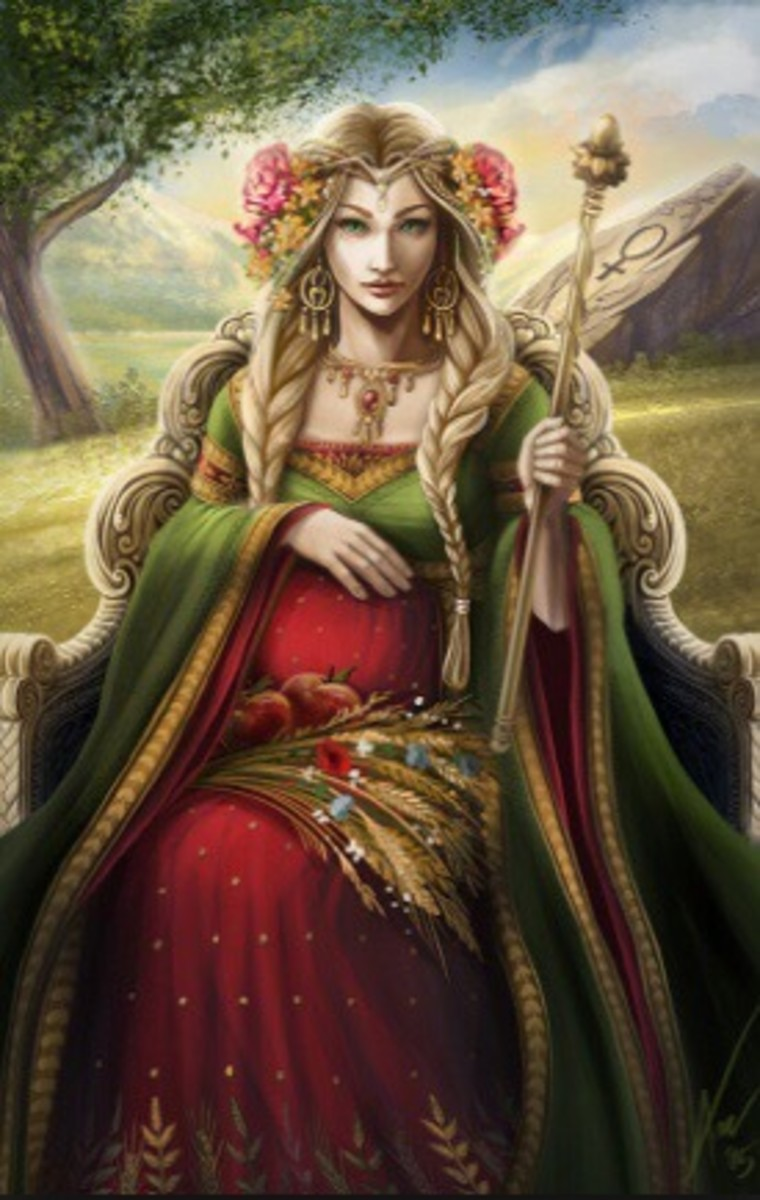 The Empress knows and understands femininity. She is a great teacher on motherhood. She represents a strong woman, a powerful leader, and a great teacher. She has a charismatic voice.