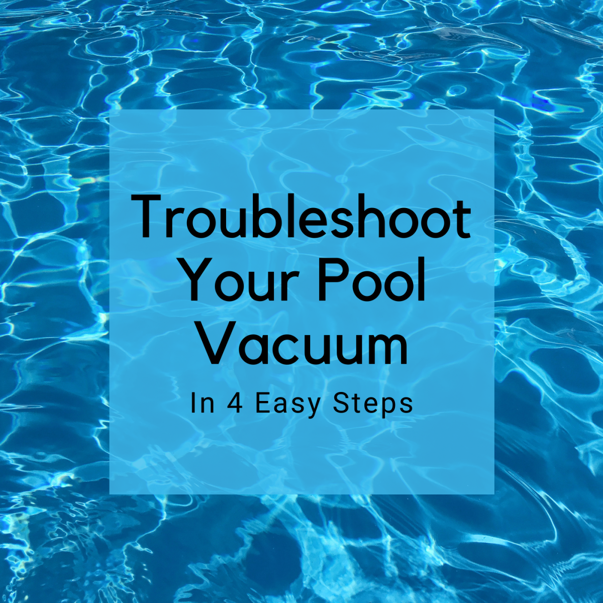 Is your pool vacuum moving slowly, or not at all? Read on.