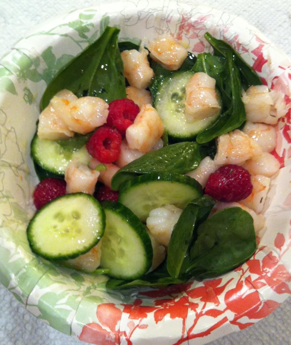 Shrimp and Spinach Salad Recipe