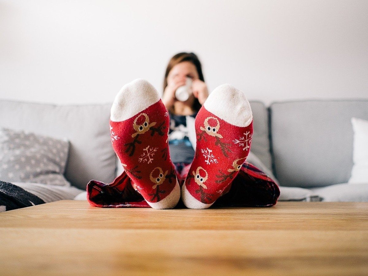 Keep your feet warm with cozy socks to reduce the chance of chilblain development, especially in winter.