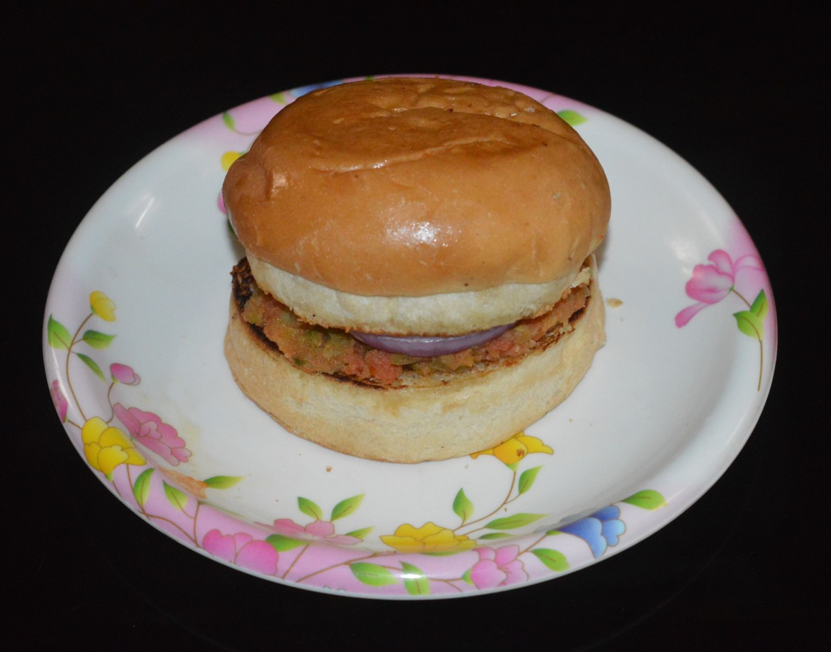 Mini pav bhaji burger