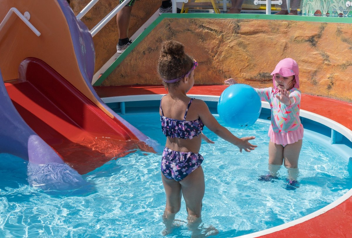 Shallow, above ground pools are the perfect introduction to swimming for kids.