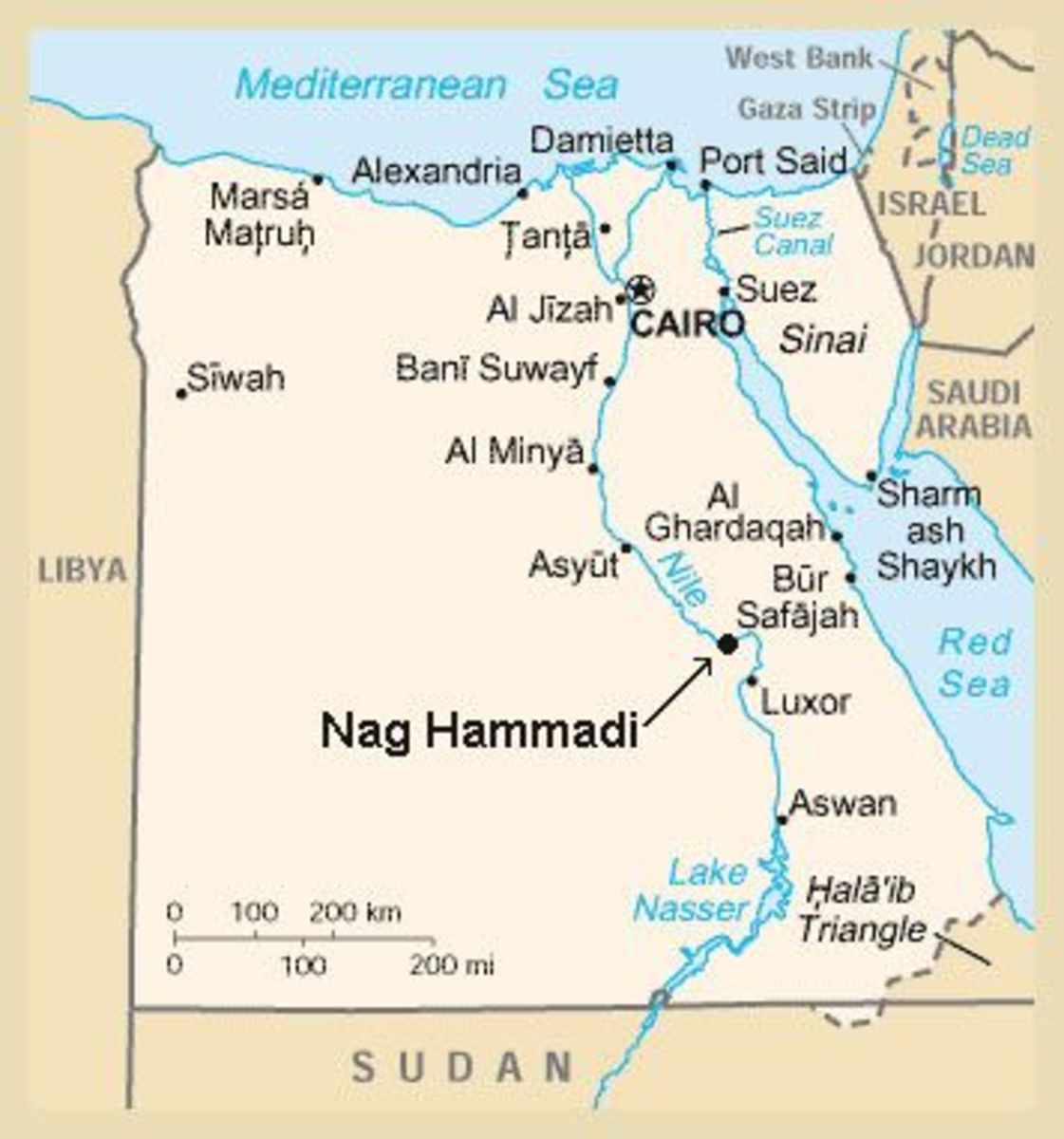 Egypt's Nag Hammadi site was relatively close to Israel and the hub of the Mediterranean.