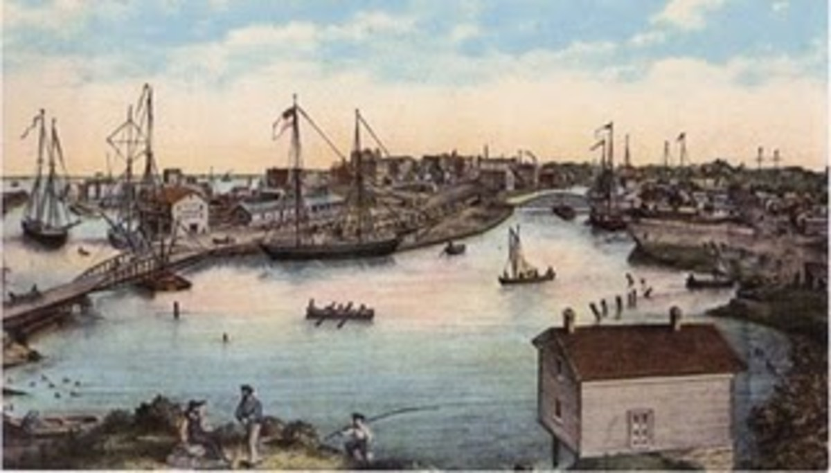 Racine Harbor from the 1850's