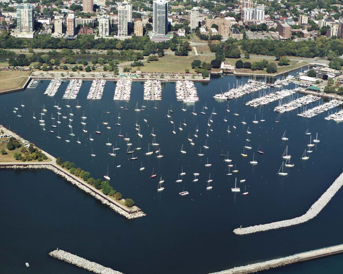 Milwaukee Harbor Aerial View