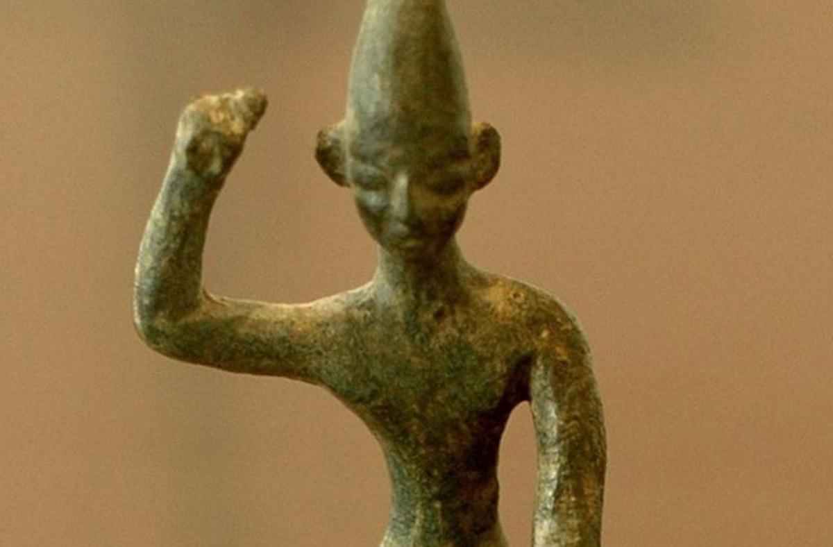 Earliest known figurine of Mot.