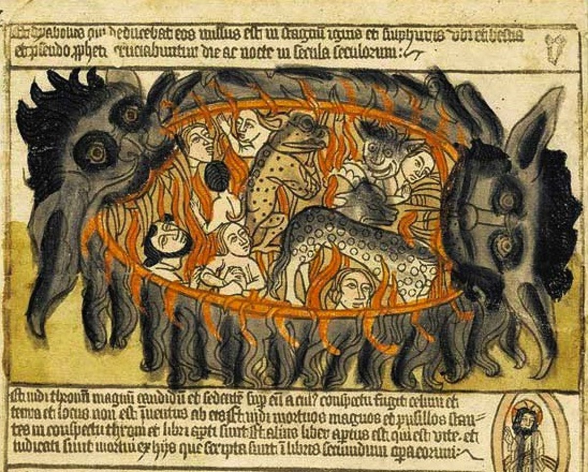 Image supposedly meant to represent Mot and Baal battling one another.