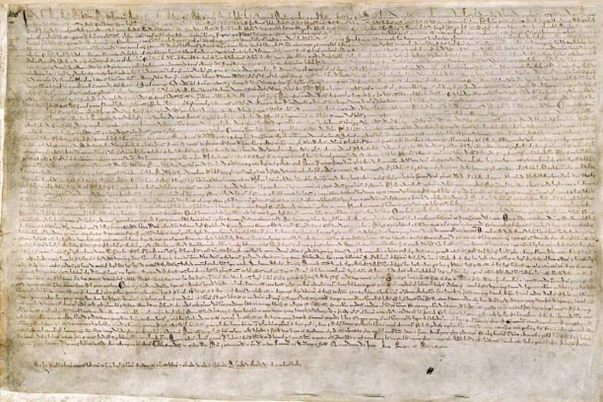 One of only four remaining exemplifications of the original 1215 Magna Carta.