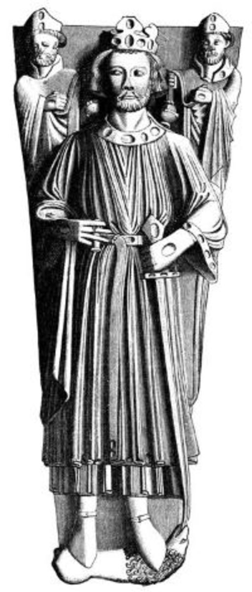 King John. The drawing was taken from his tomb at Worcester Cathedral.