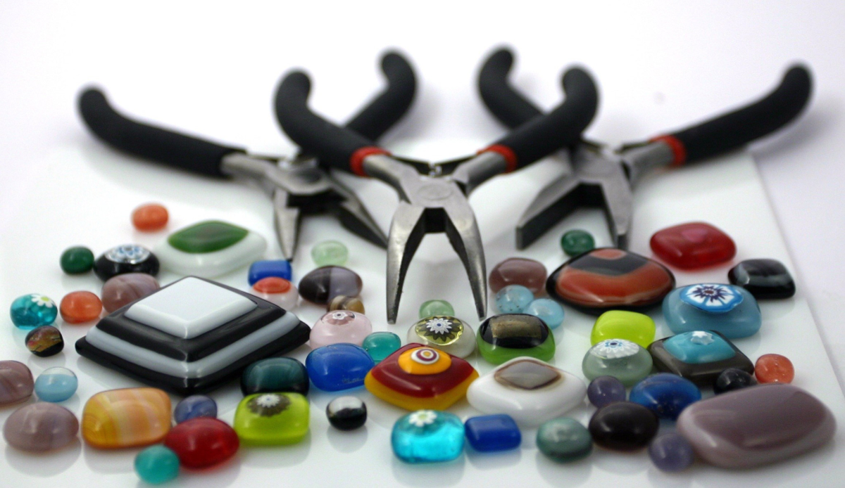 Fusing glass presents a huge range of options in making beads.