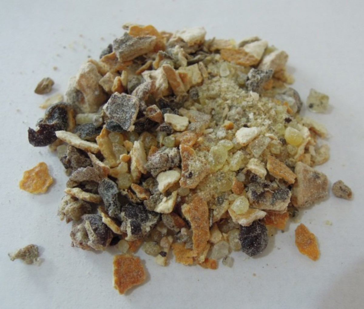 Citrus incense blend