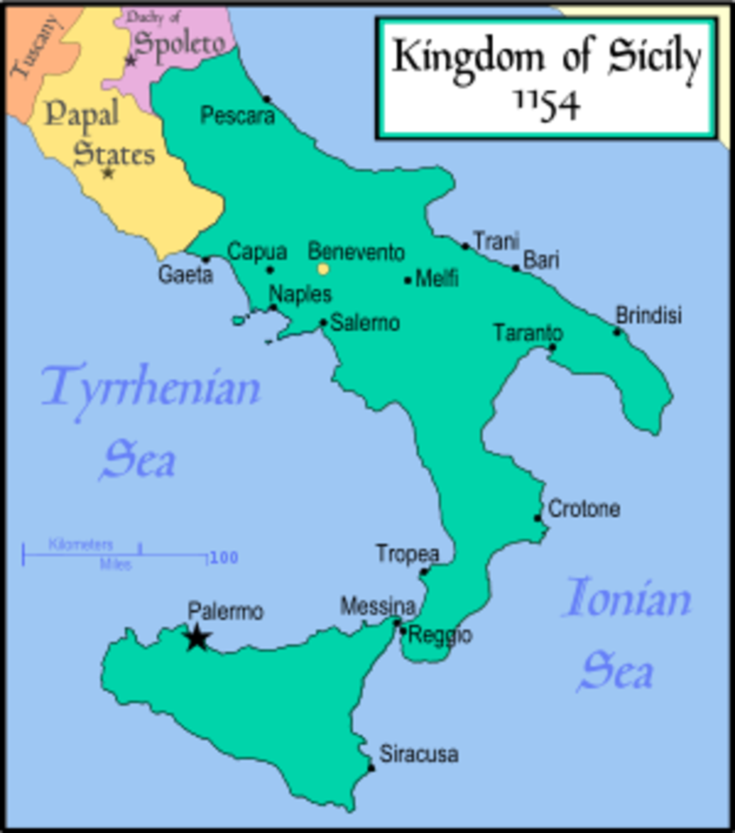 When the Norman conquered Southern Italy the castle of Monteserico that today is situated on the boundary between Basilicata and Apulia plaid a large part in ruling over the Norman conquests.