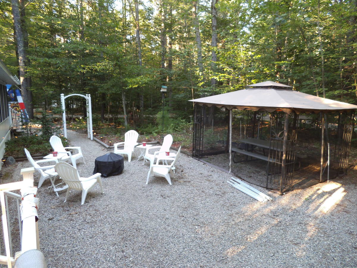 This is before we moved the gazebo to the new deck.