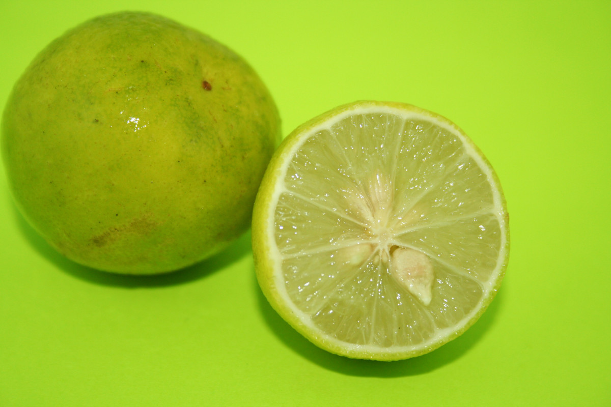 Key limes are usually yellow or yellowish green when ripe.