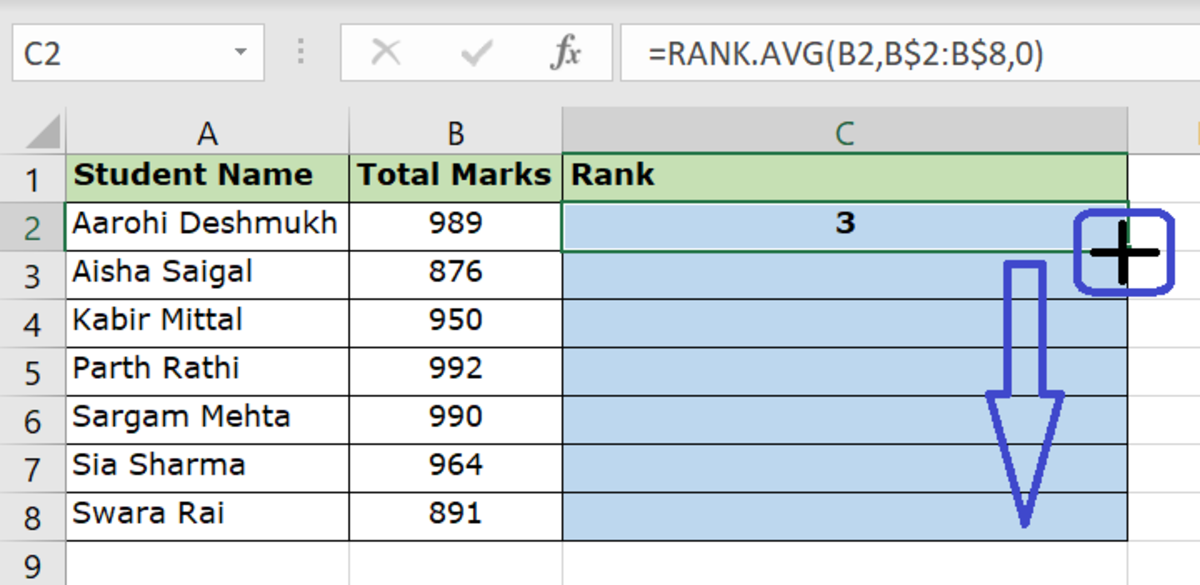 how-to-find-the-rank-of-a-value-using-excel