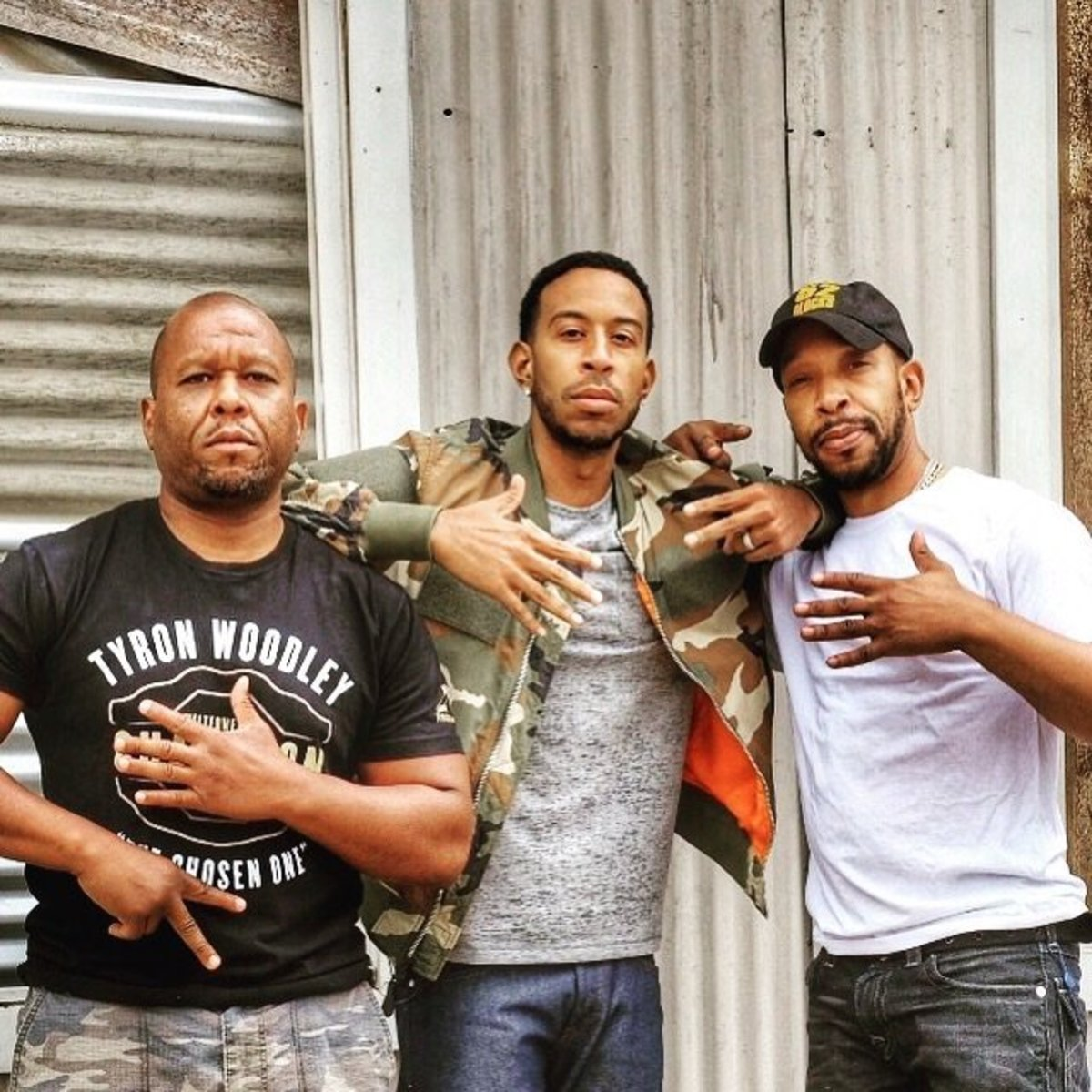 Pictured here with Ludacris and associate, Lyte is bringing his fighting technique to the film industry.