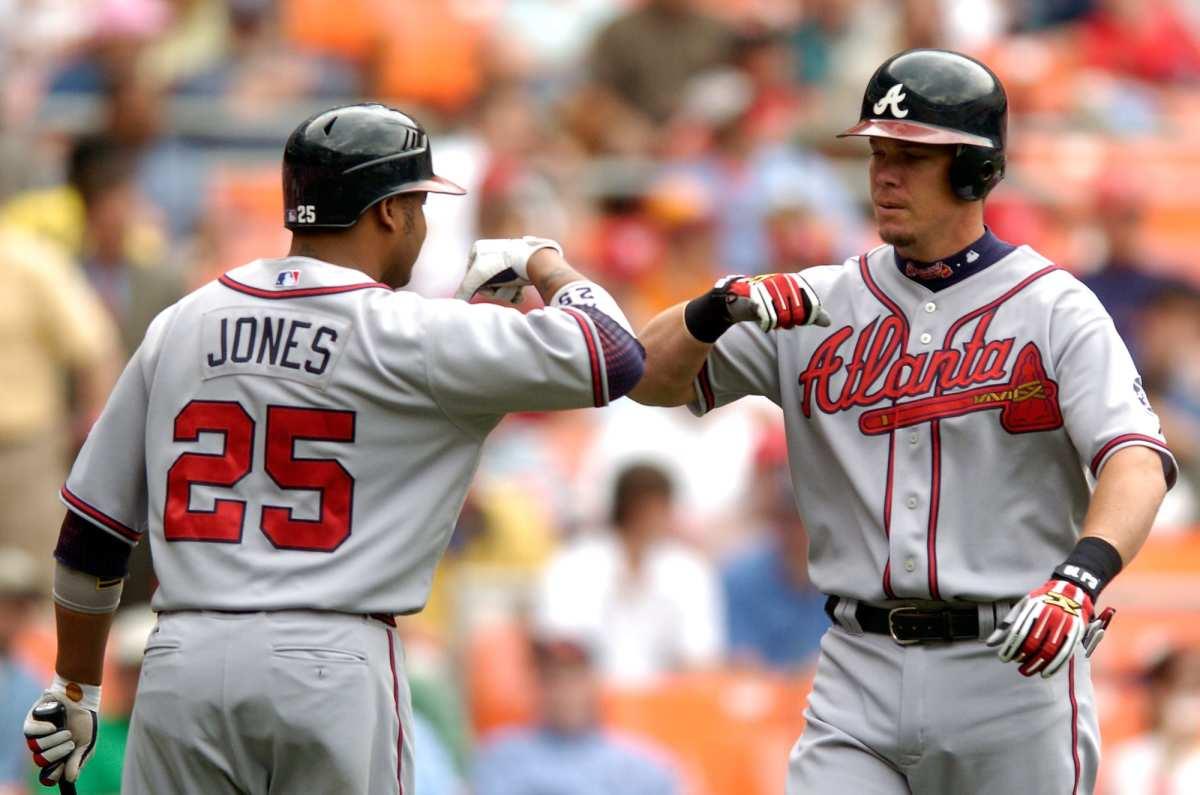 Chipper Jones (Right) and Andruw Jones (Left).