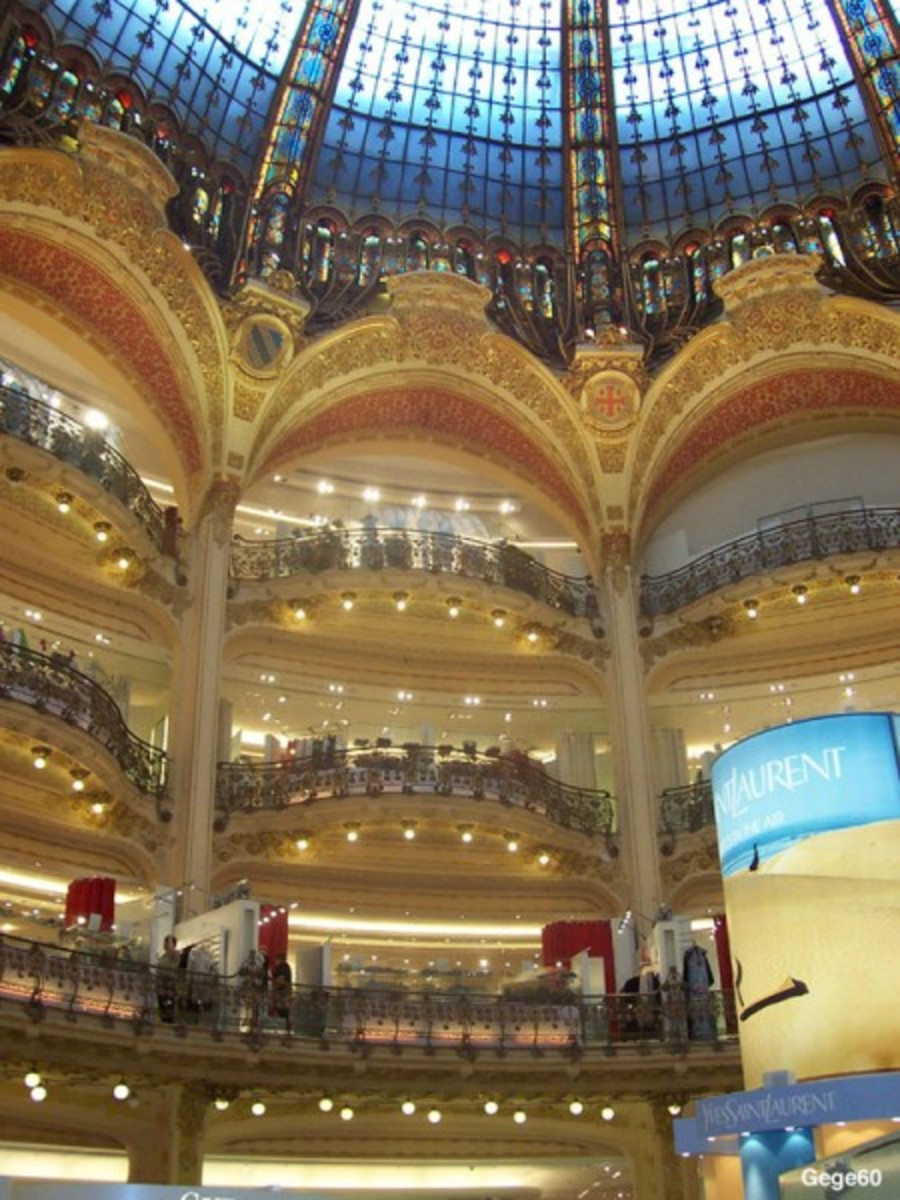Gorgeous interior of Galeries Lafayette