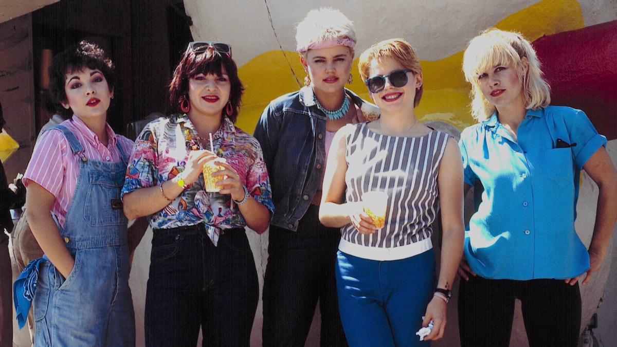 The Go-Go's with original bassist Margot Olavarria, 1980