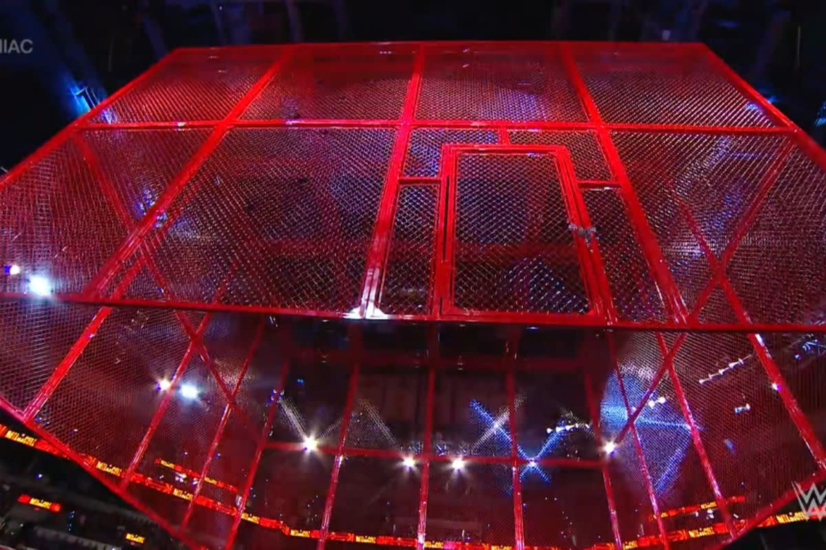 The new red cage