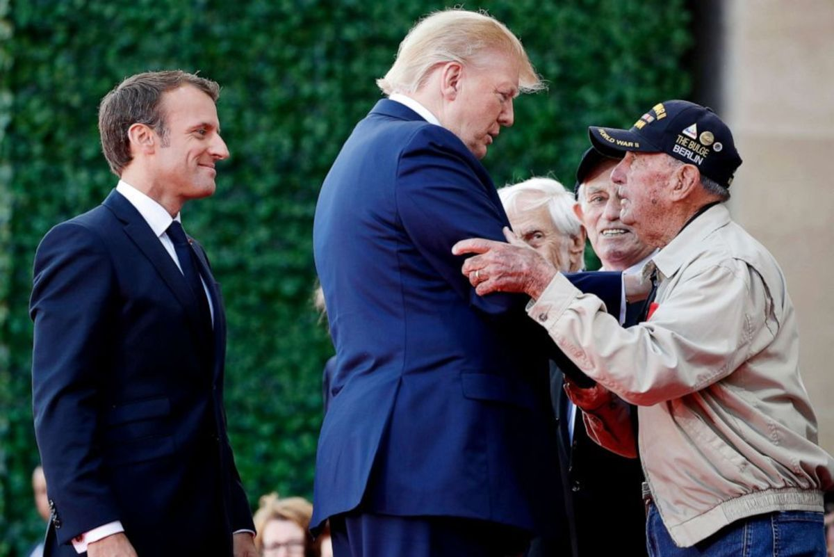 The 75th Anniversary of D-Day - Normandy, France (Presidents Trump and Macron with Veterans)