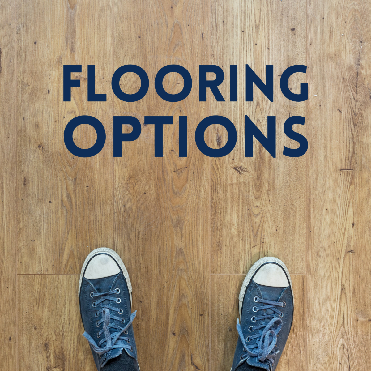 A list of residential flooring material options for homes.