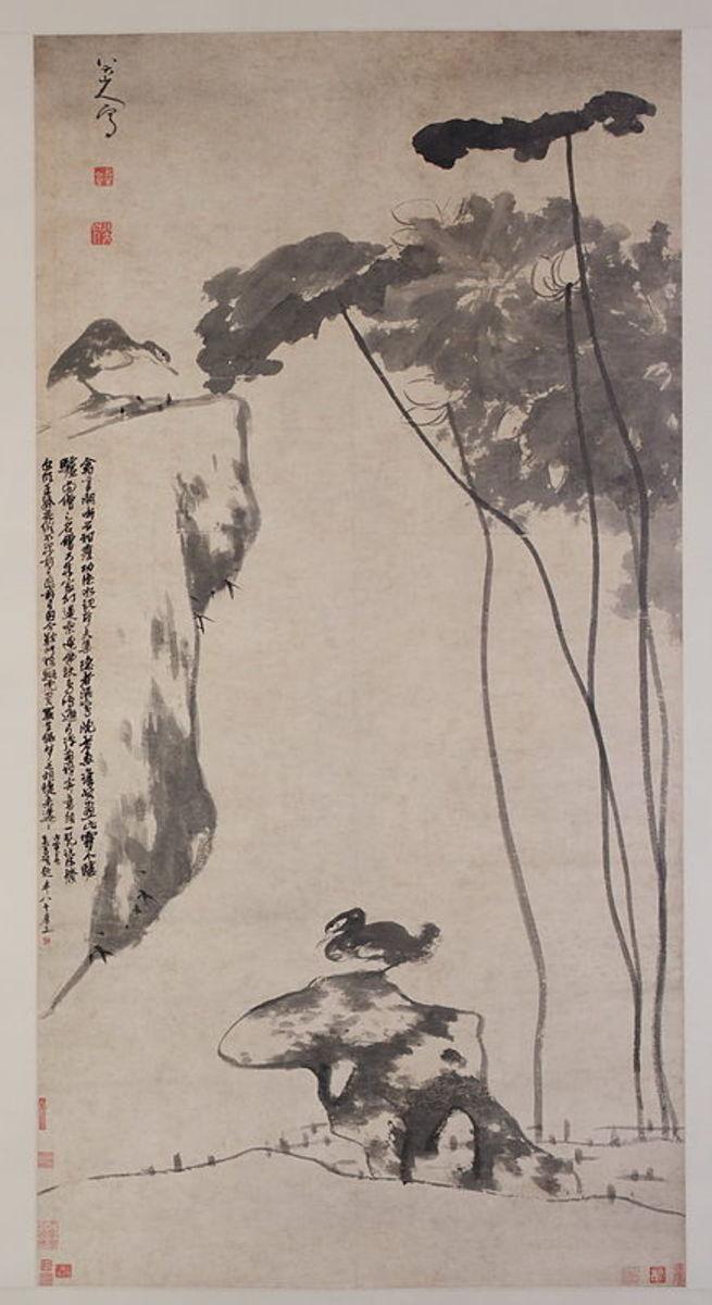 Bada Shanren: The angry ducks painting