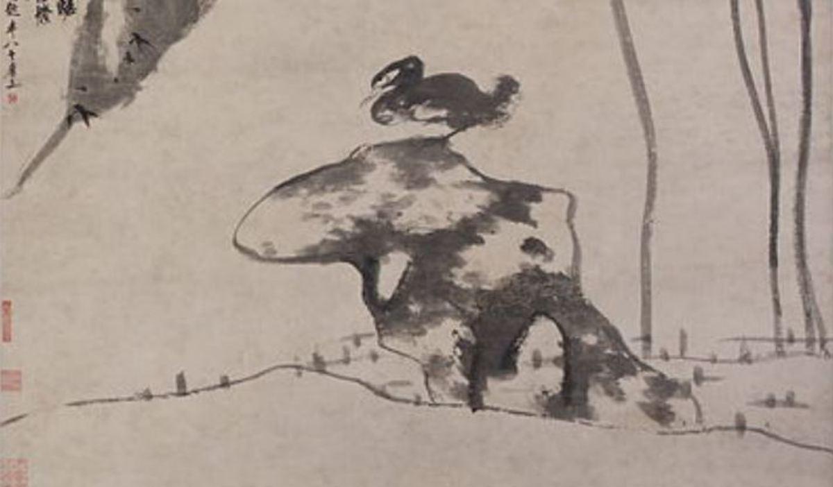bada-shanren-the-angry-ducks-painting