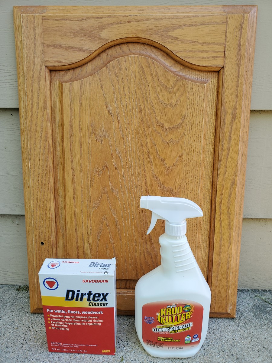 My two favorite cleaners for cabinet painting.