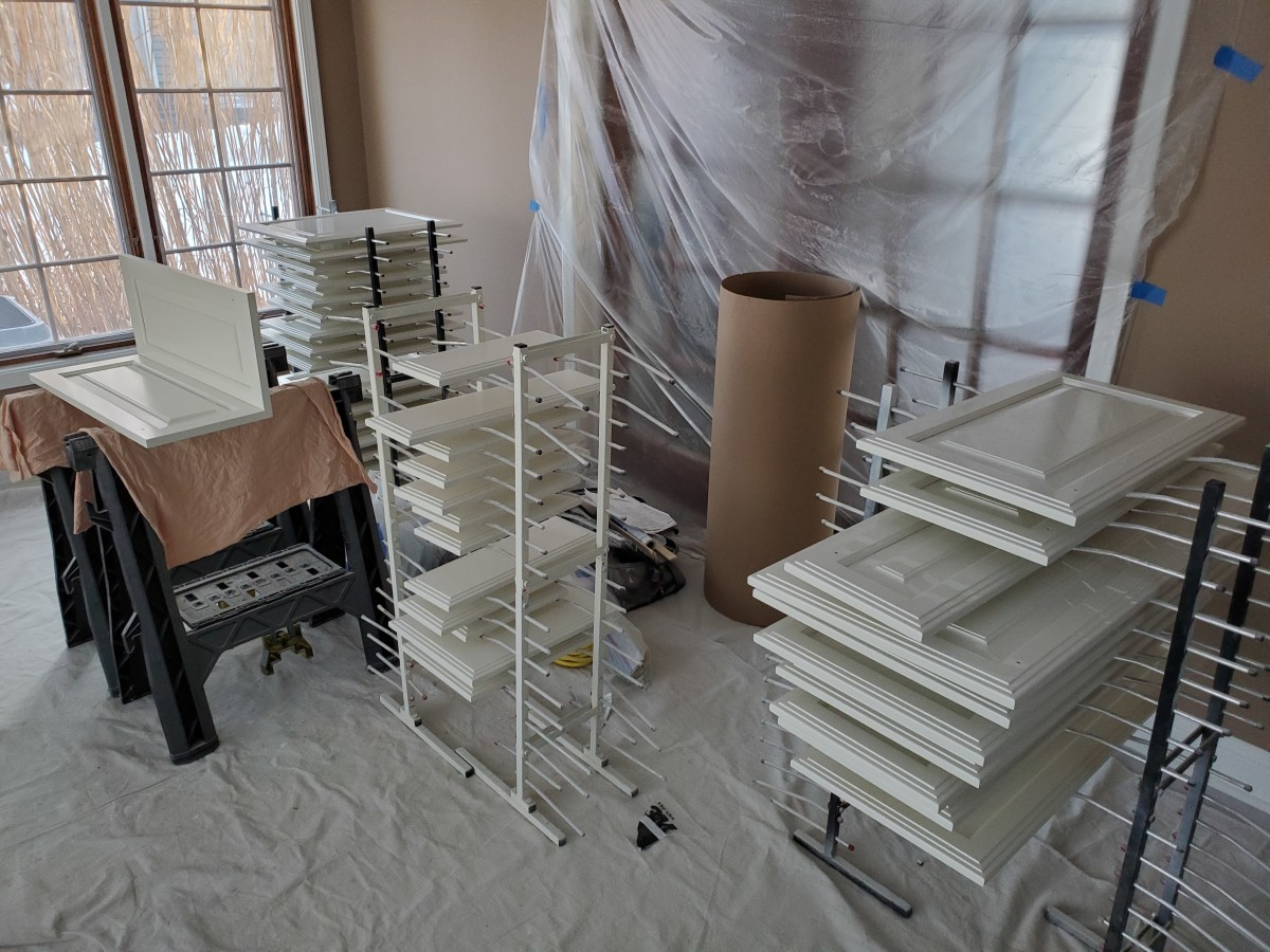 The drying racks I use for cabinet doors.