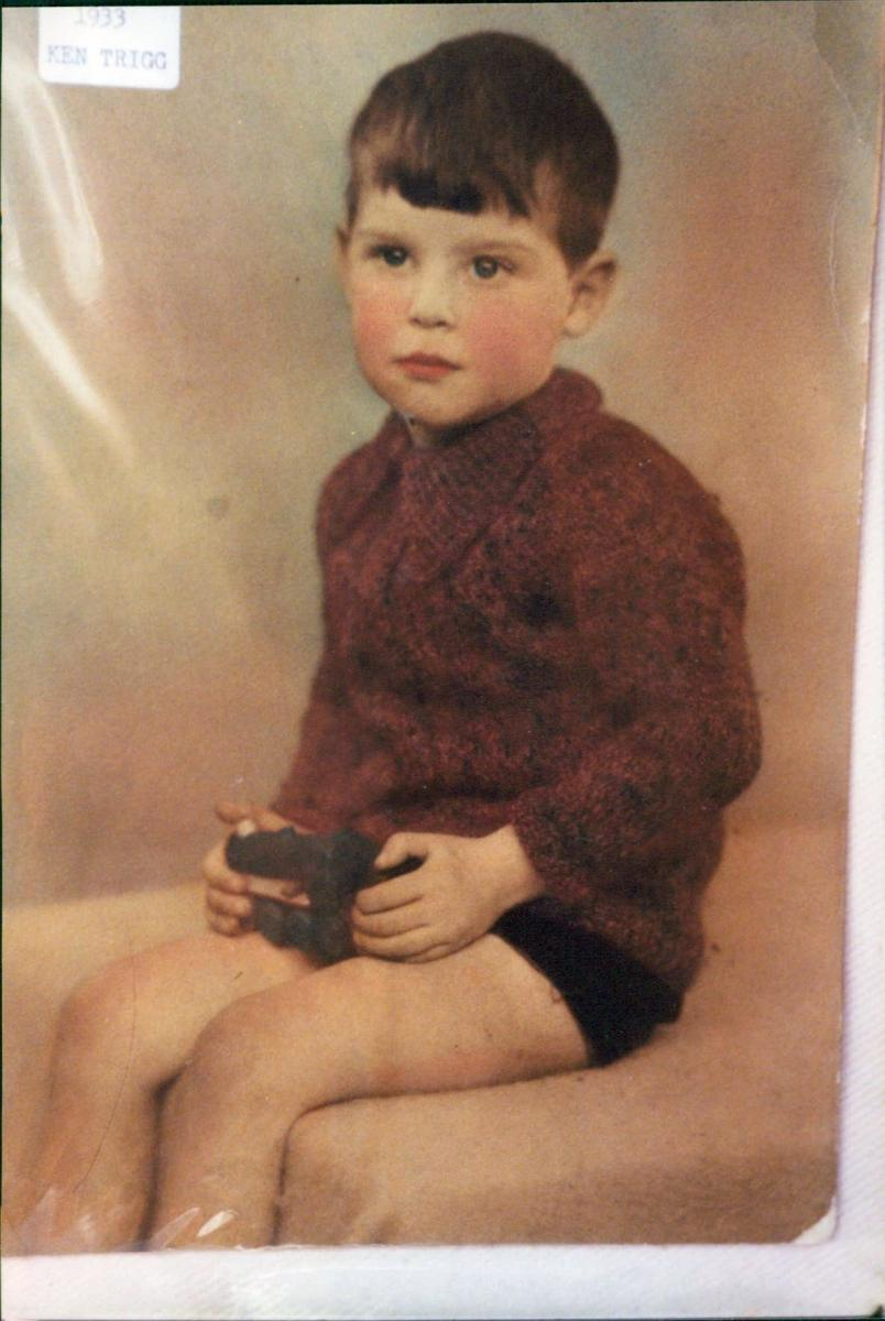 Mum's brother Ken when he was a small child.