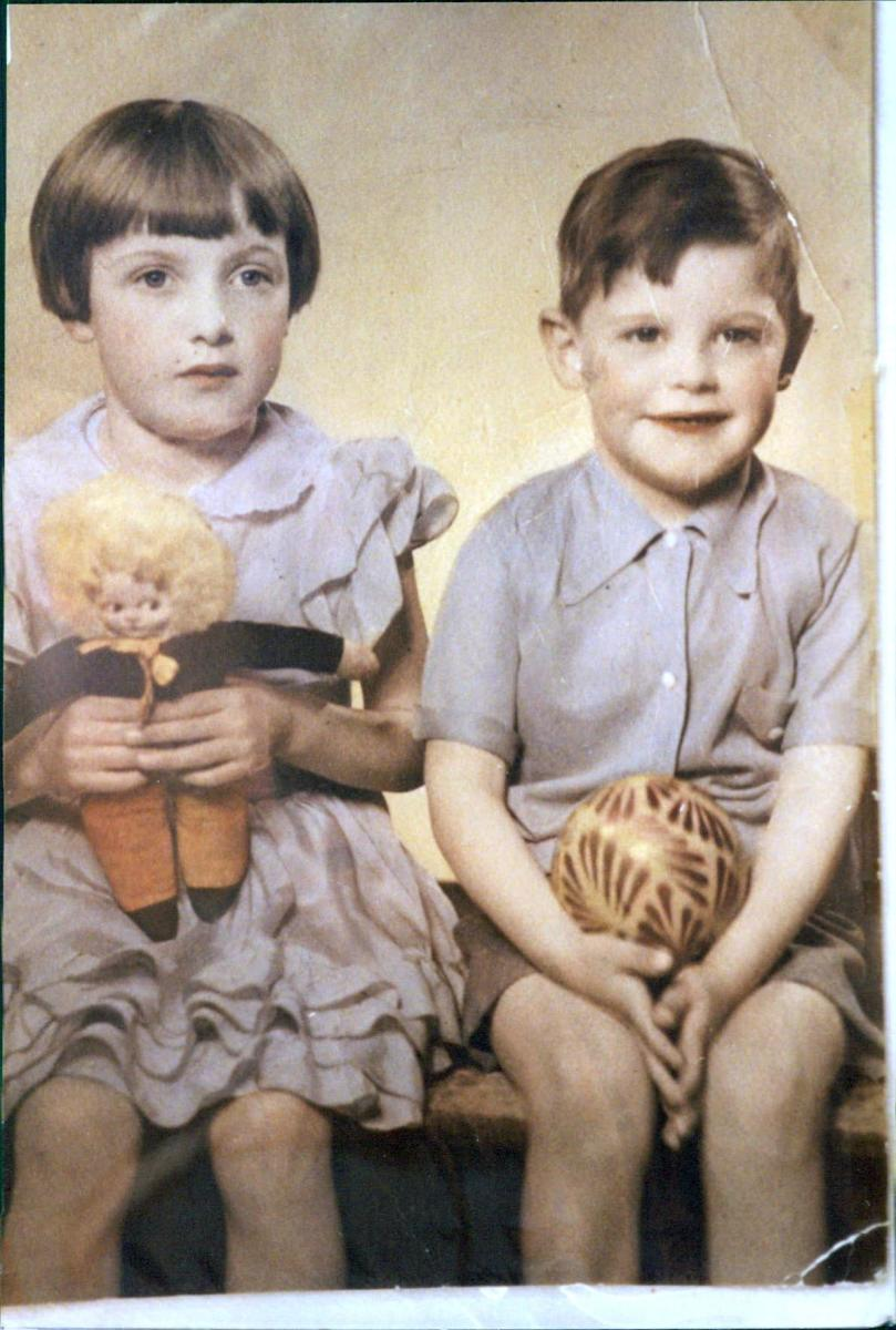Mum and her brother, my Uncle Ken, when they were kids.