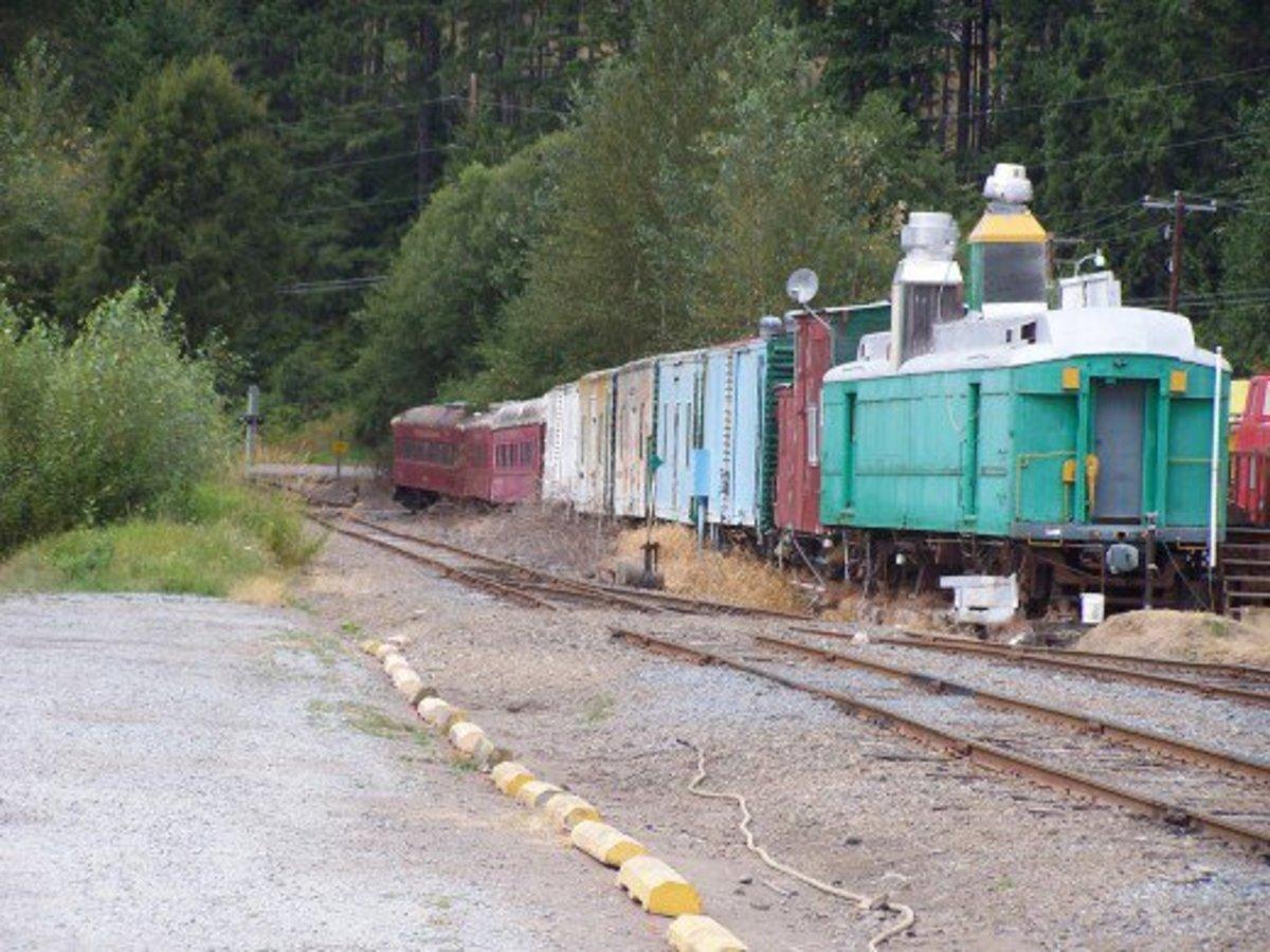 Train carriages train yard