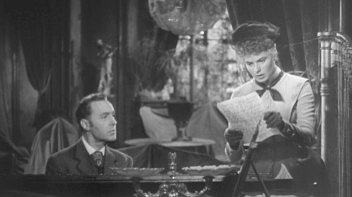 Ingrid Bergman reads letter to Charles Boyer