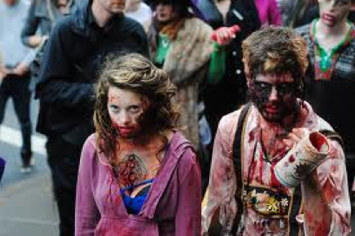 The zombie walk is proving itself to be a great fundraising tactic although it isn't for everybody!