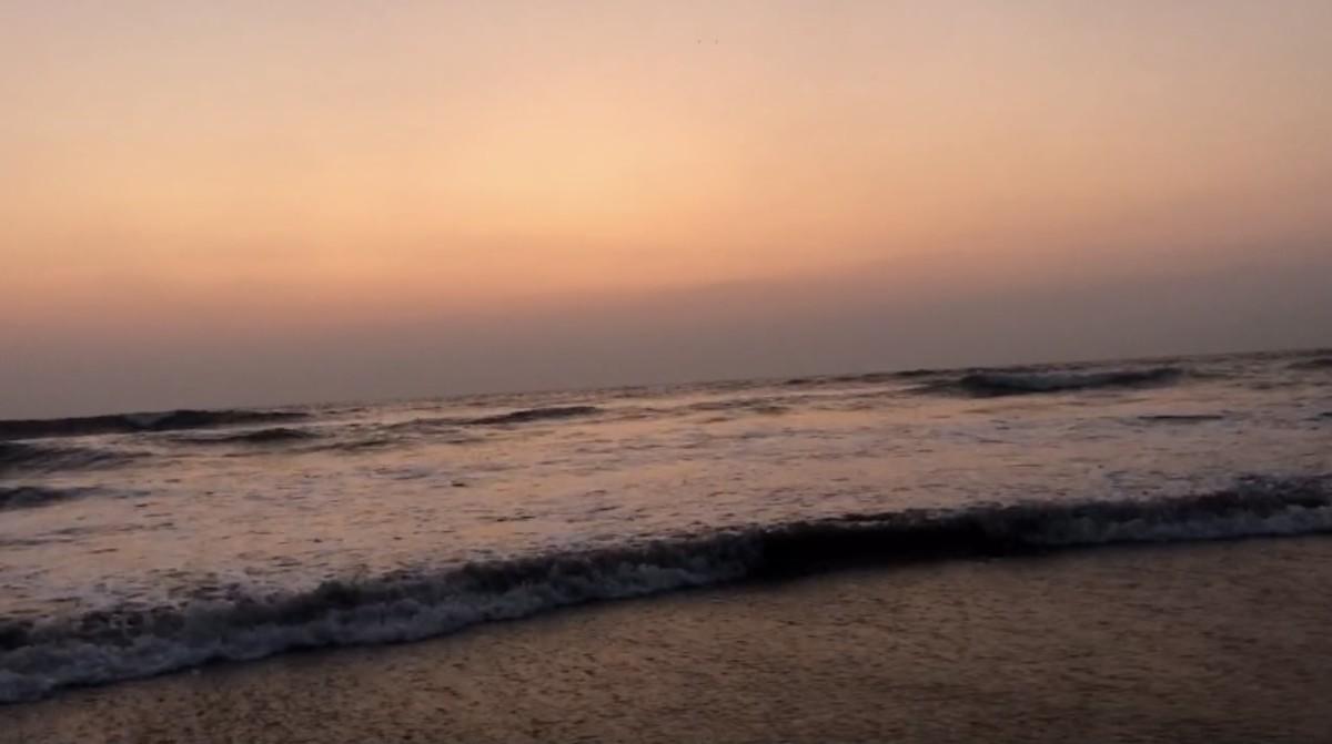 Sunrise View at Mahabalipuram beach