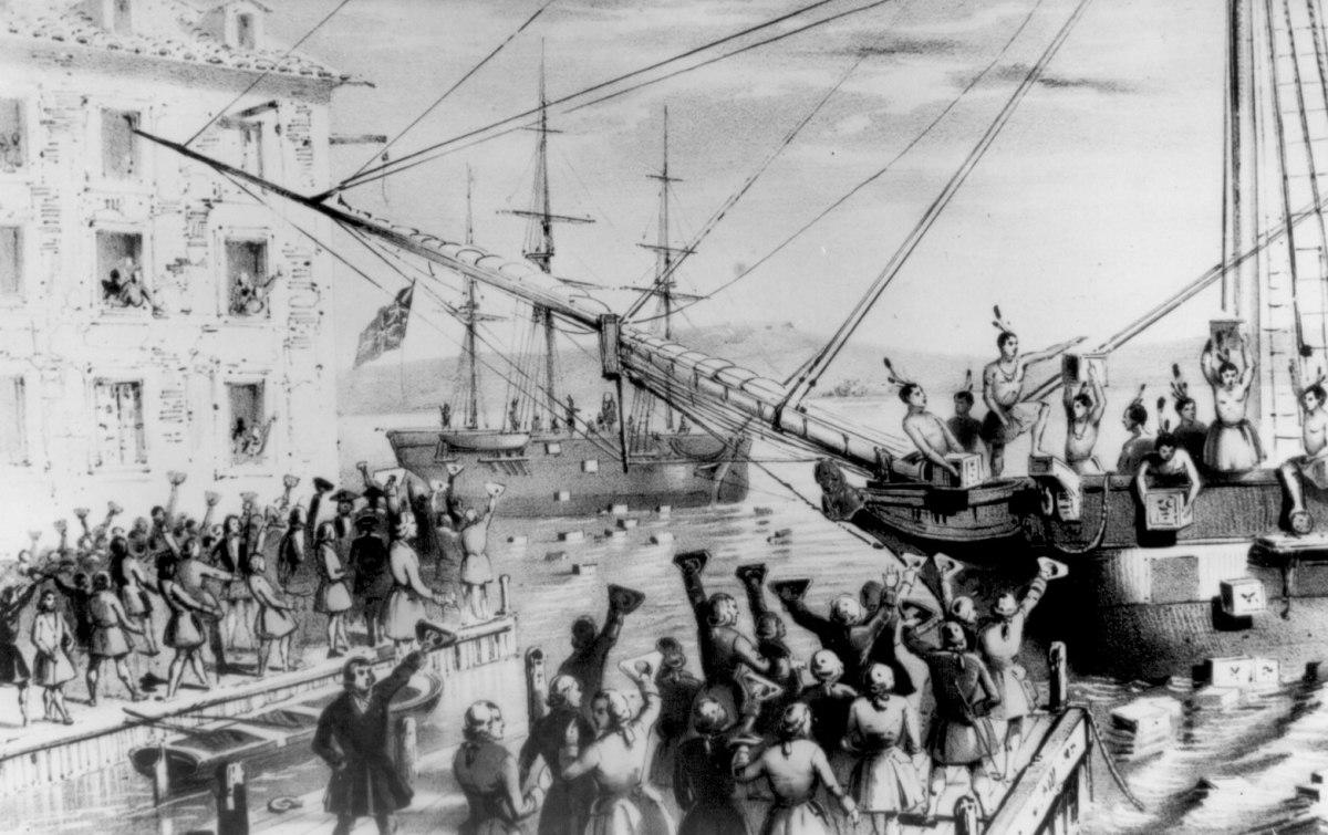 The Boston Tea Party.