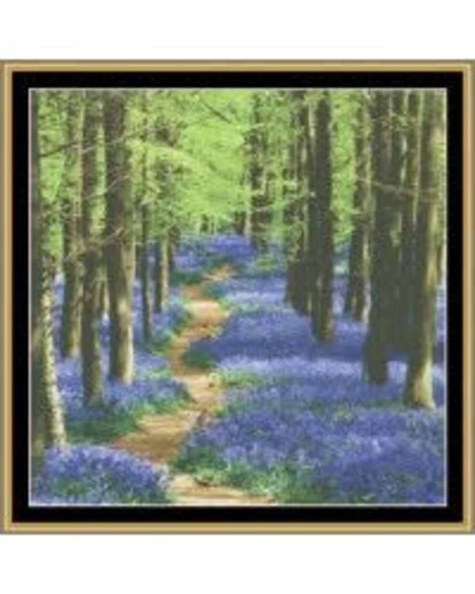 Blue Bells in the Woods Cross Stitch Pattern