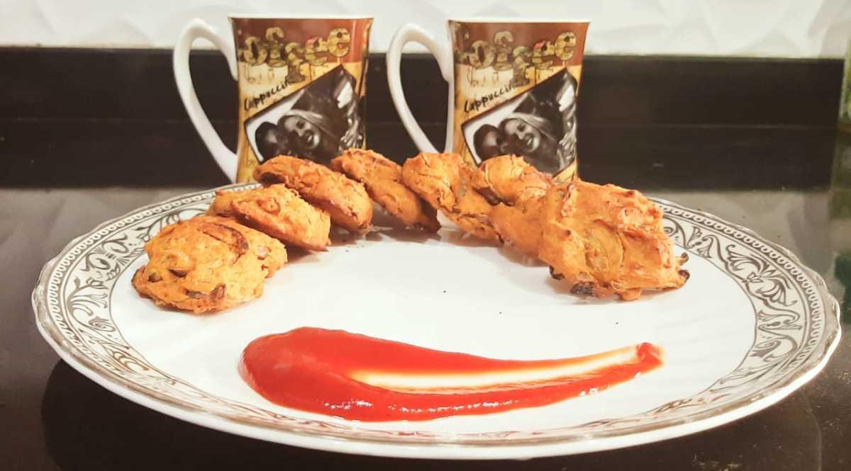 Enjoy your baked pakoras!
