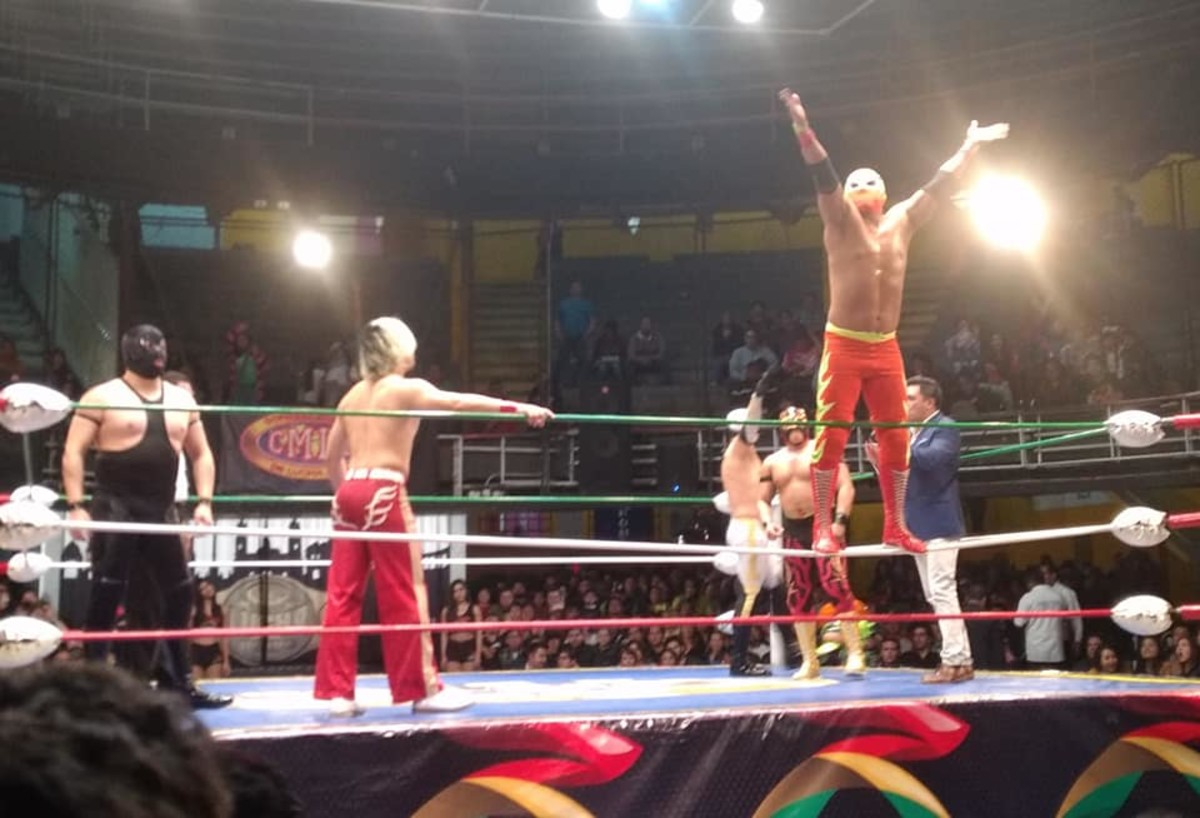 Lucha Libre wrestling at the Arena Mexico.