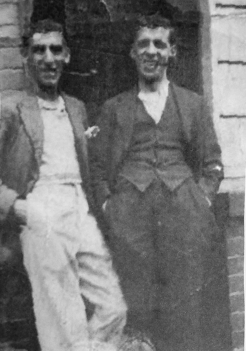Grandad on the right with his older brother Arthur in the 1930s