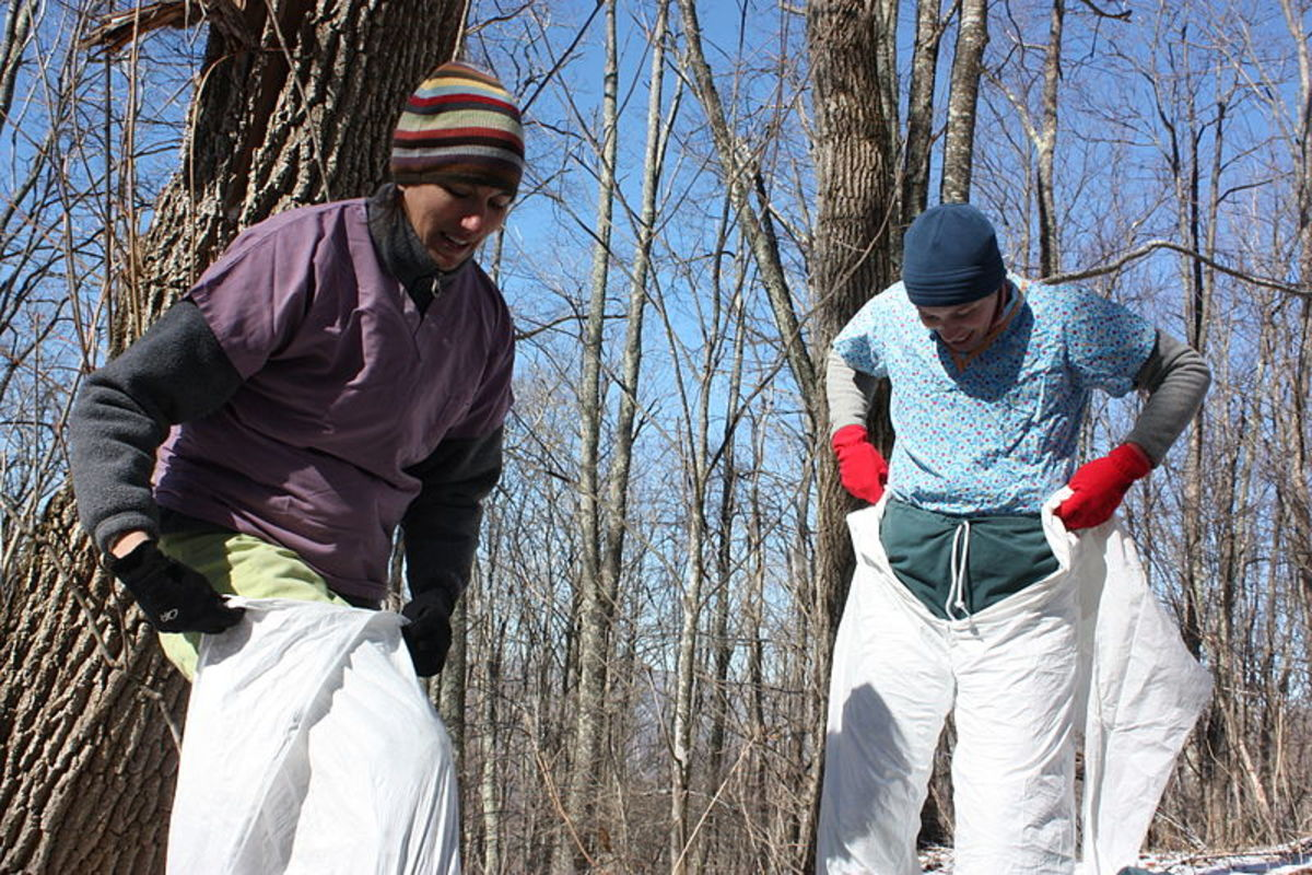 Disposable Tyvek suits are a great option for protecting skin and clothing from contact with poison ivy.