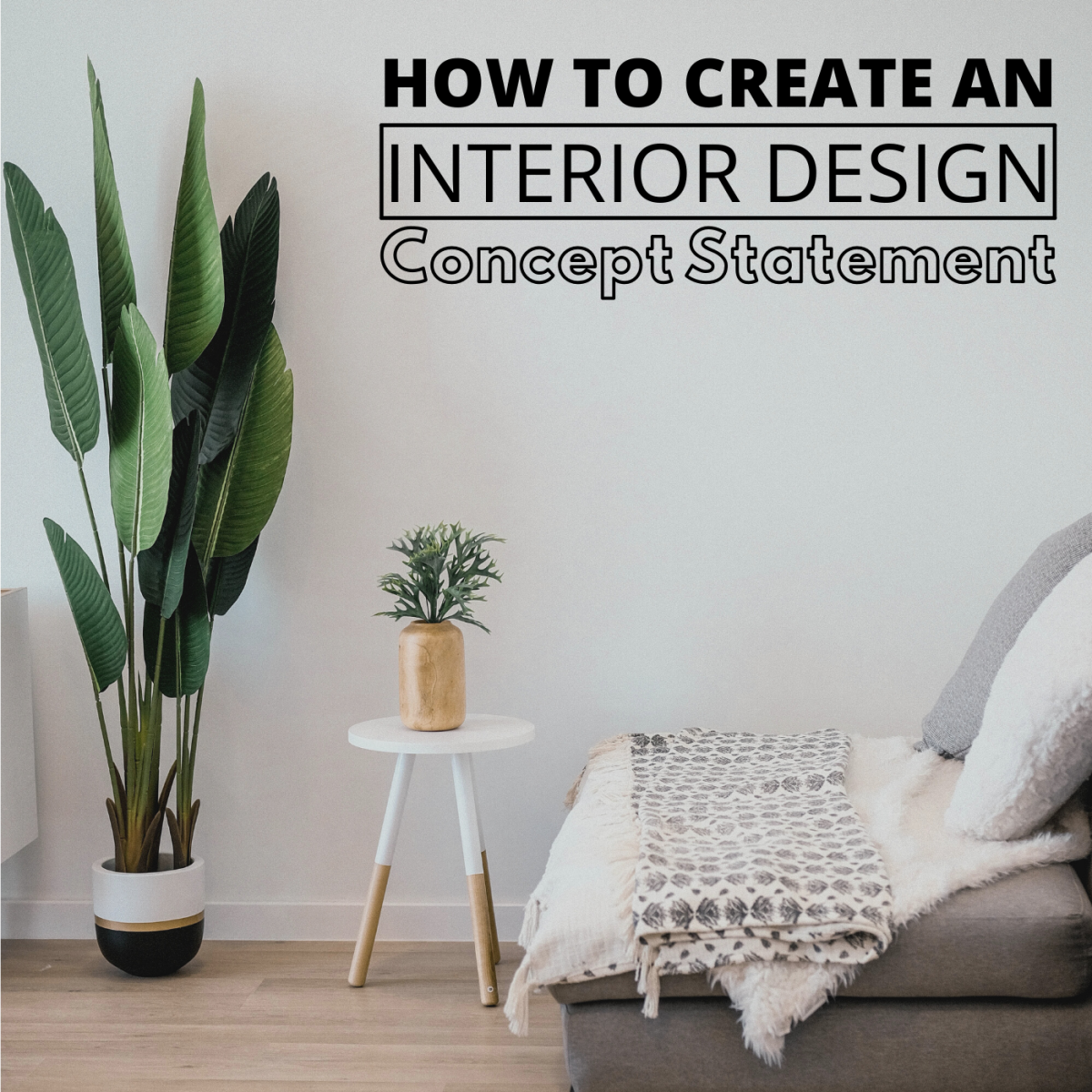 In interior design, your concept statement is essentially the thesis or heart of your proposal.