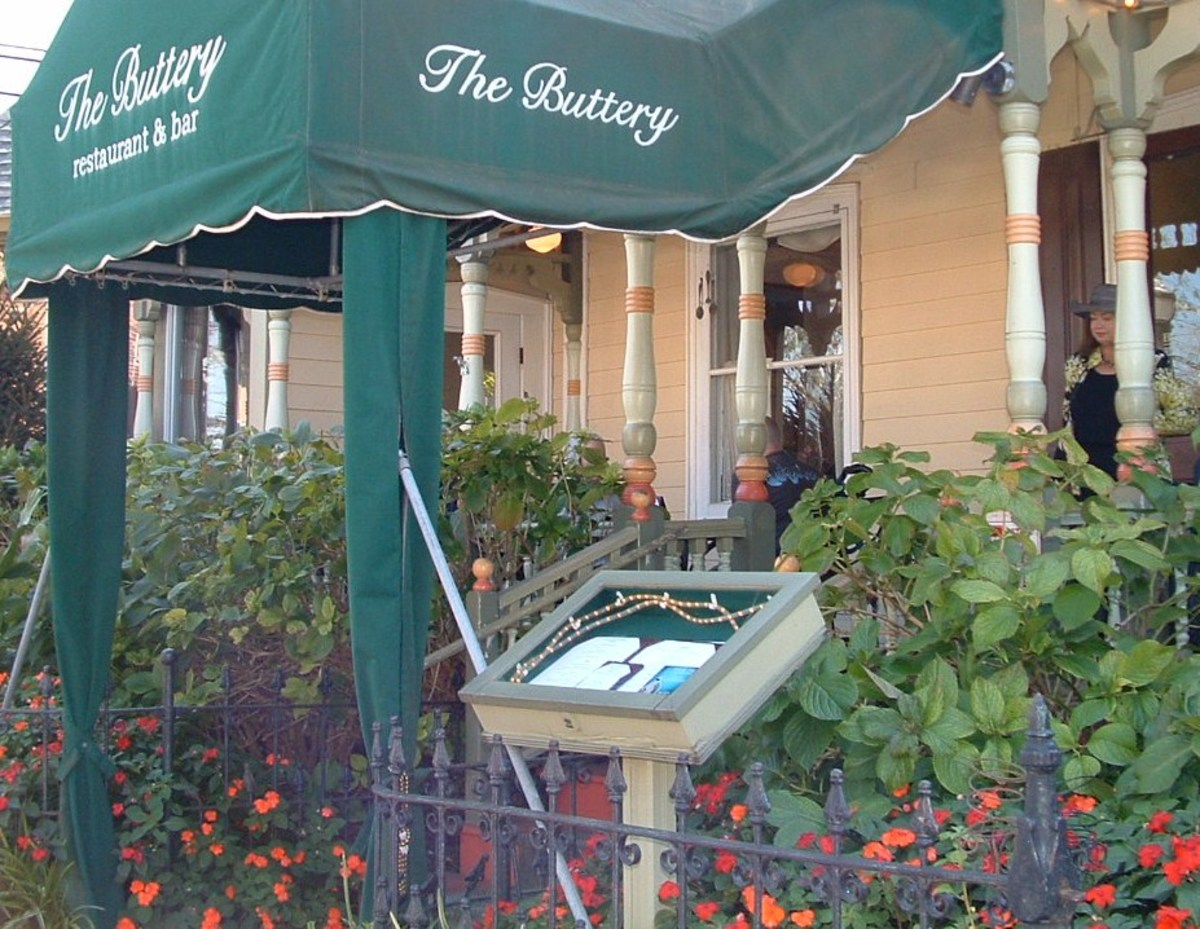 The Buttery. Fine dining with indoor and outdoor seating.