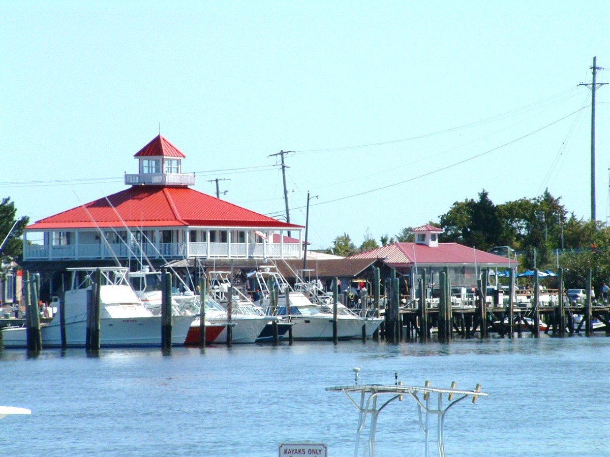 The Wharf Restaurant & Bar. Casual waterfront dining with indoor and outdoor seating.