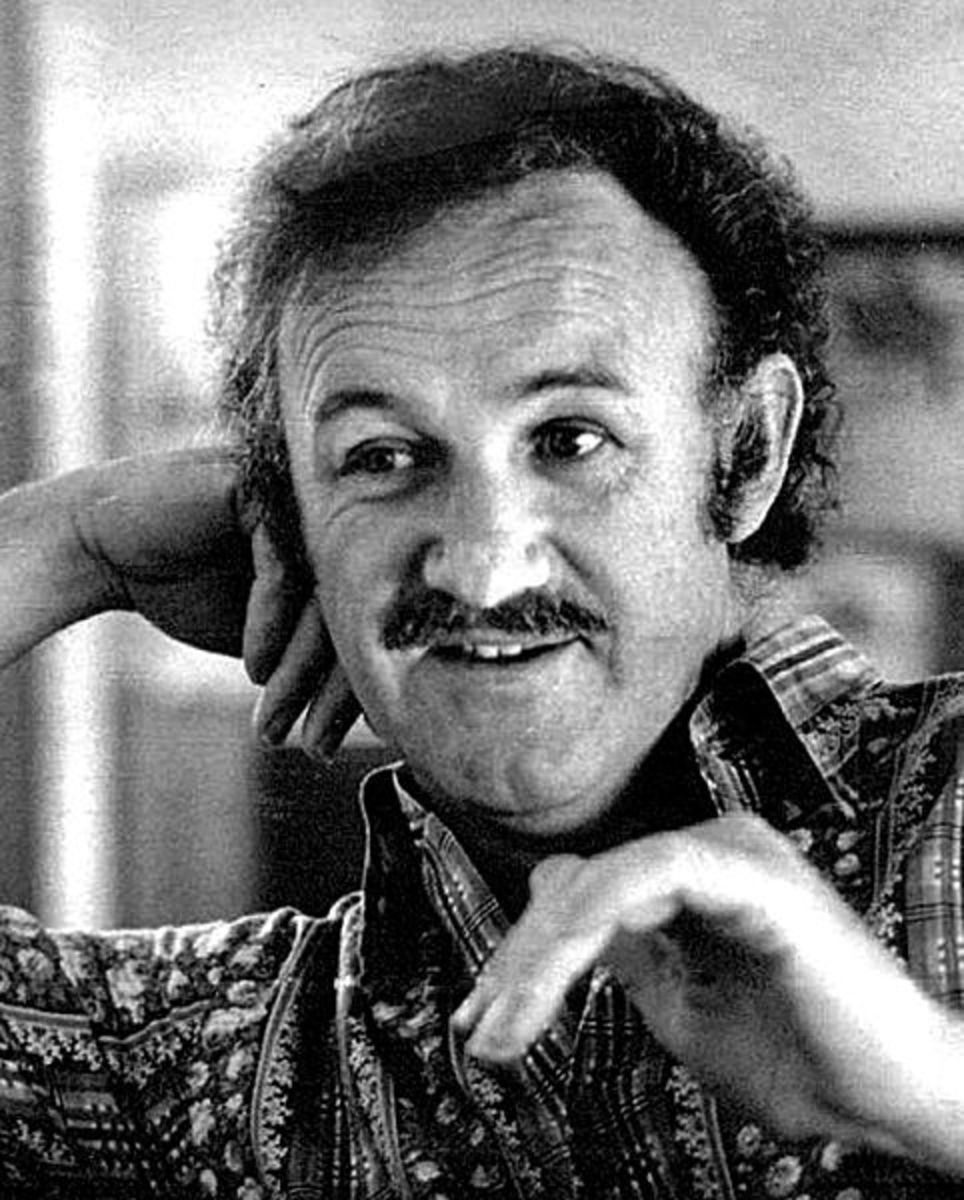 Newspaper photo of Gene Hackman, public domain.