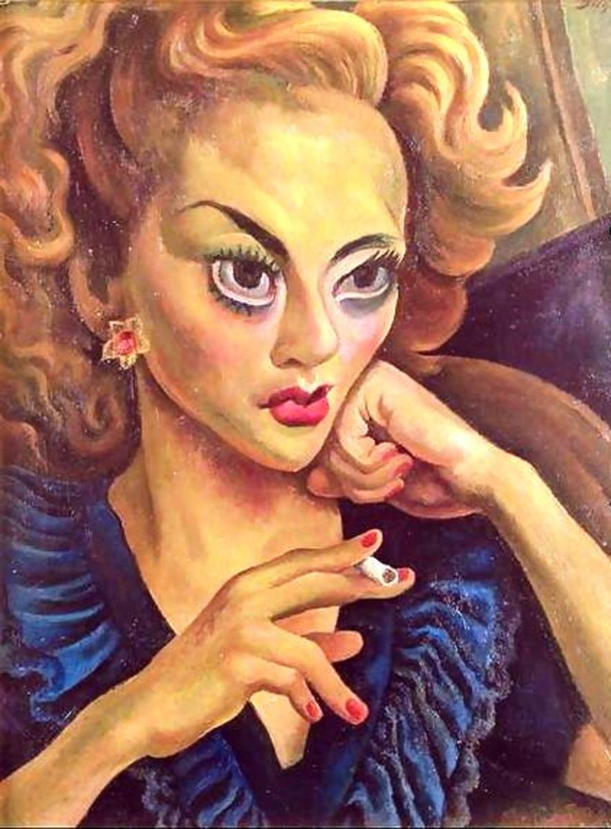 Portrait of an Actress by Diego Rivera